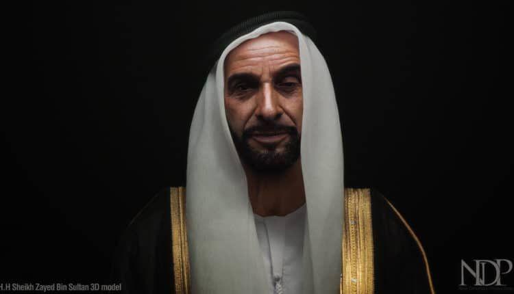 خطاب ملهم لسمو المغفور له الشيخ زايد بتصميم الصور المجسمة ثلاثية الأبعاد هولوغرام