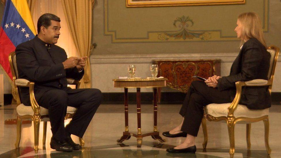 مادورو خلال مقابلة مع بي بي سي