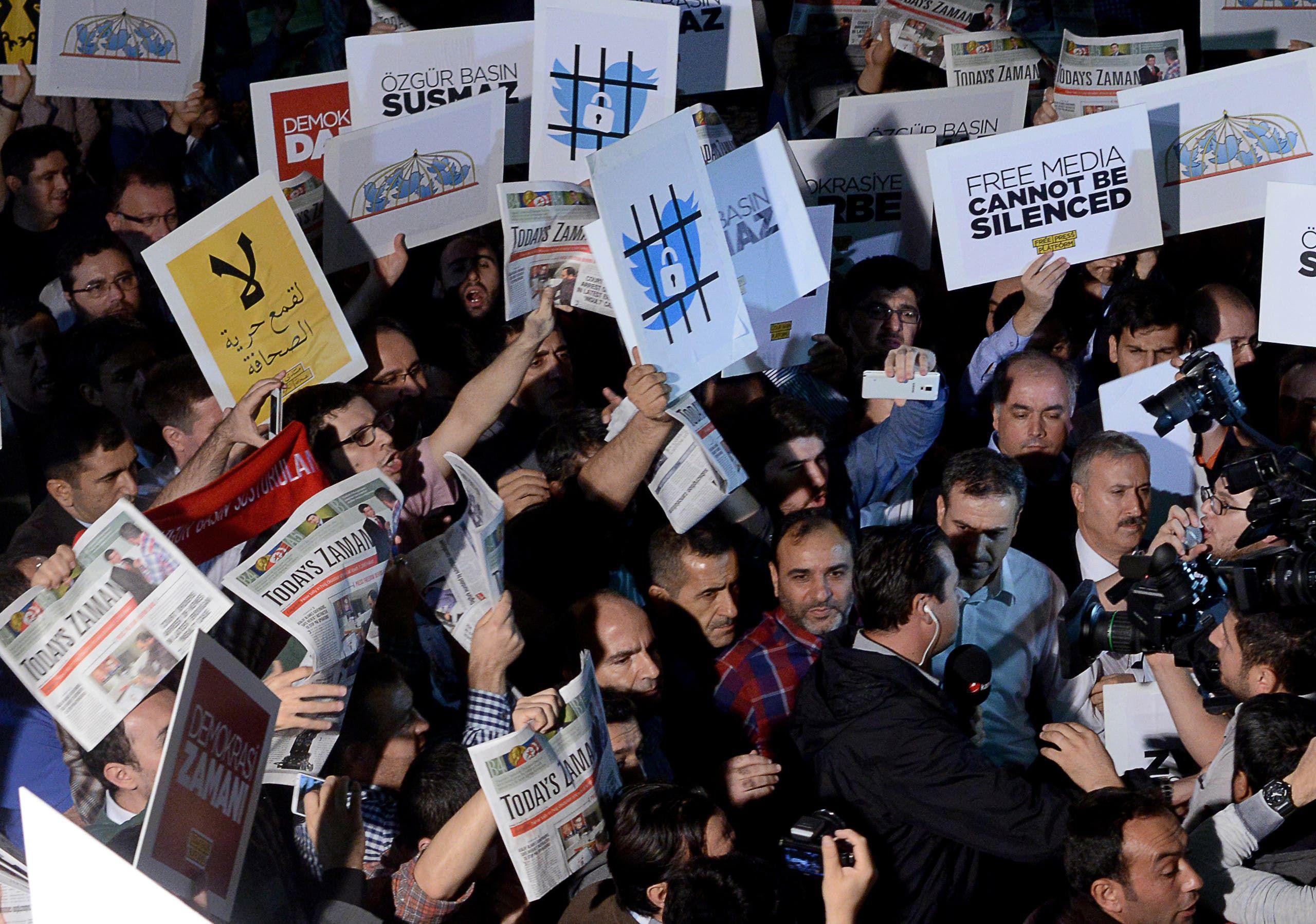 تظاهرات في تركيا تطالب بحرية للصحافة - أرشيفية