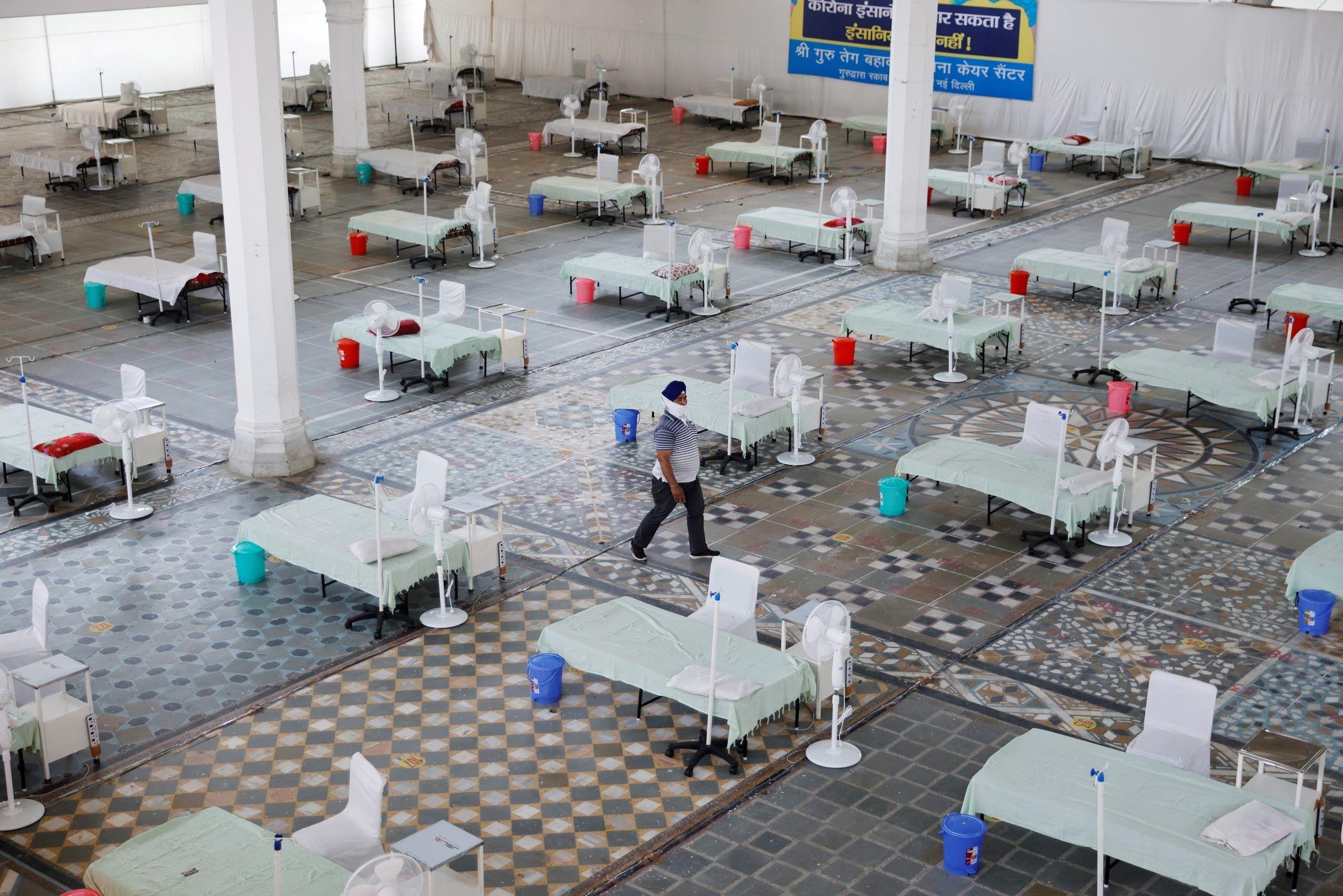 تحويل معبد للسيخ في نيودلهي إلى مستشفى ميداني لمرضى كورونا