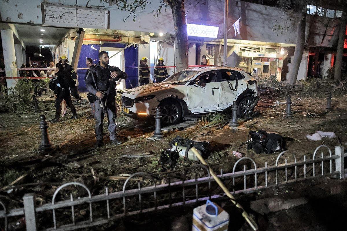 صواريخ حماس أحدثت أضرارا في تل أبيب