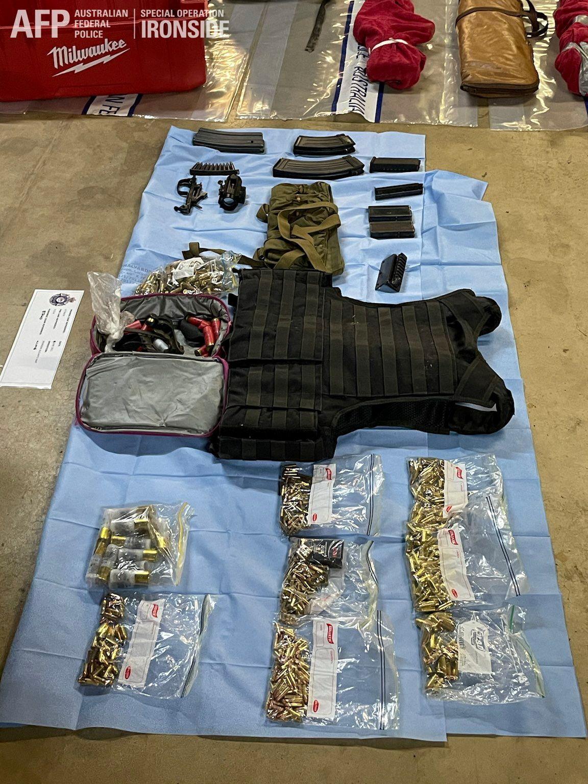 أسلحة تم ضبطها في أستراليا ضمن العملية