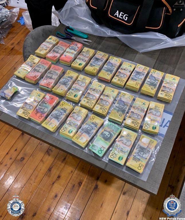 أموال تم ضبطها في أستراليا ضمن العملية
