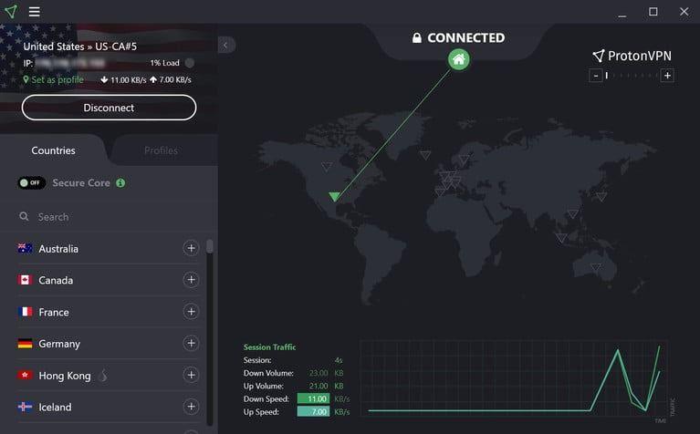 الشبكات الخاصة الافتراضية من protonvpn