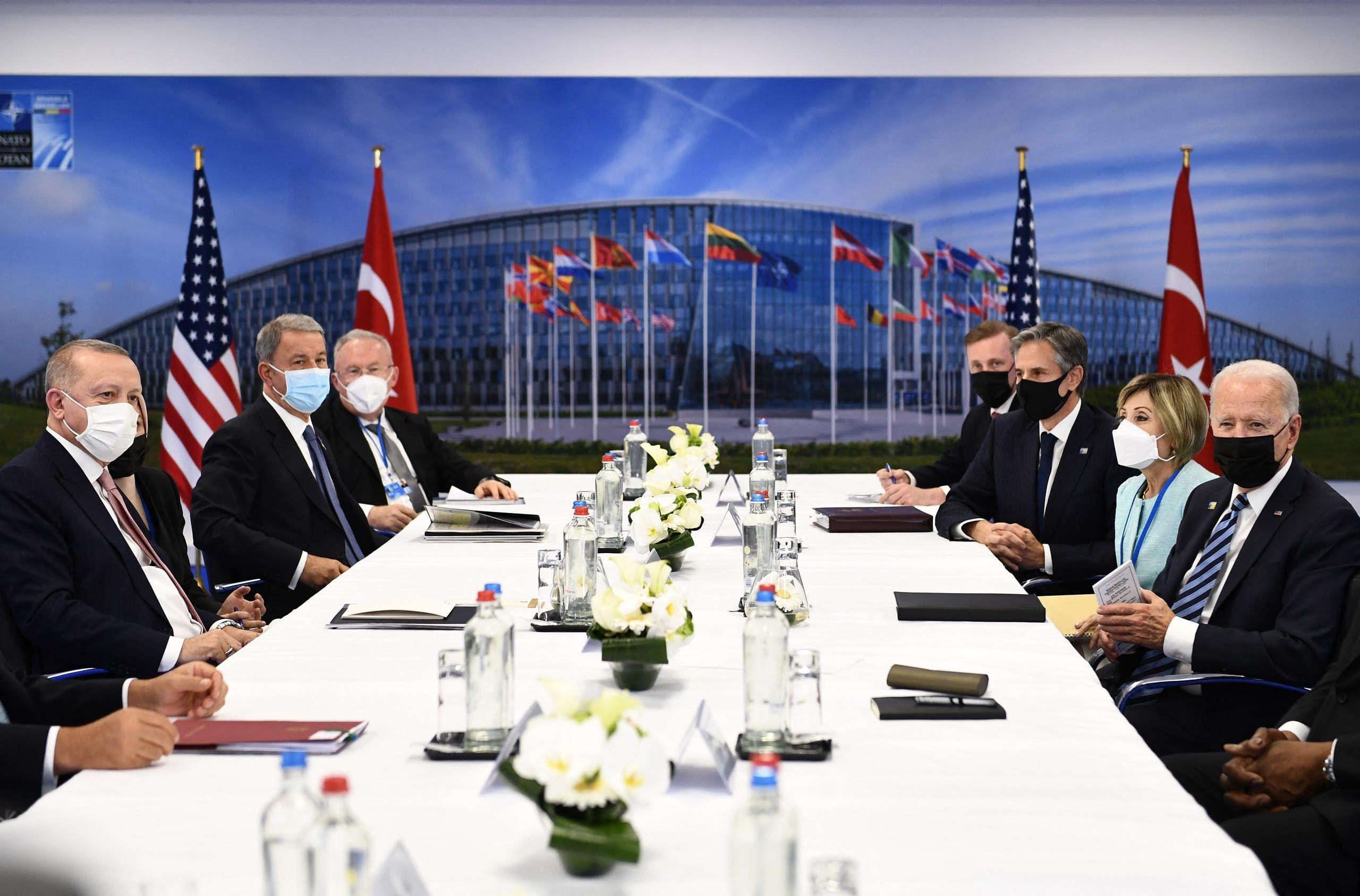 من اجتماع الناتو في بروكسيل الإثنين 14 يونيو 2021 (فراس برس)
