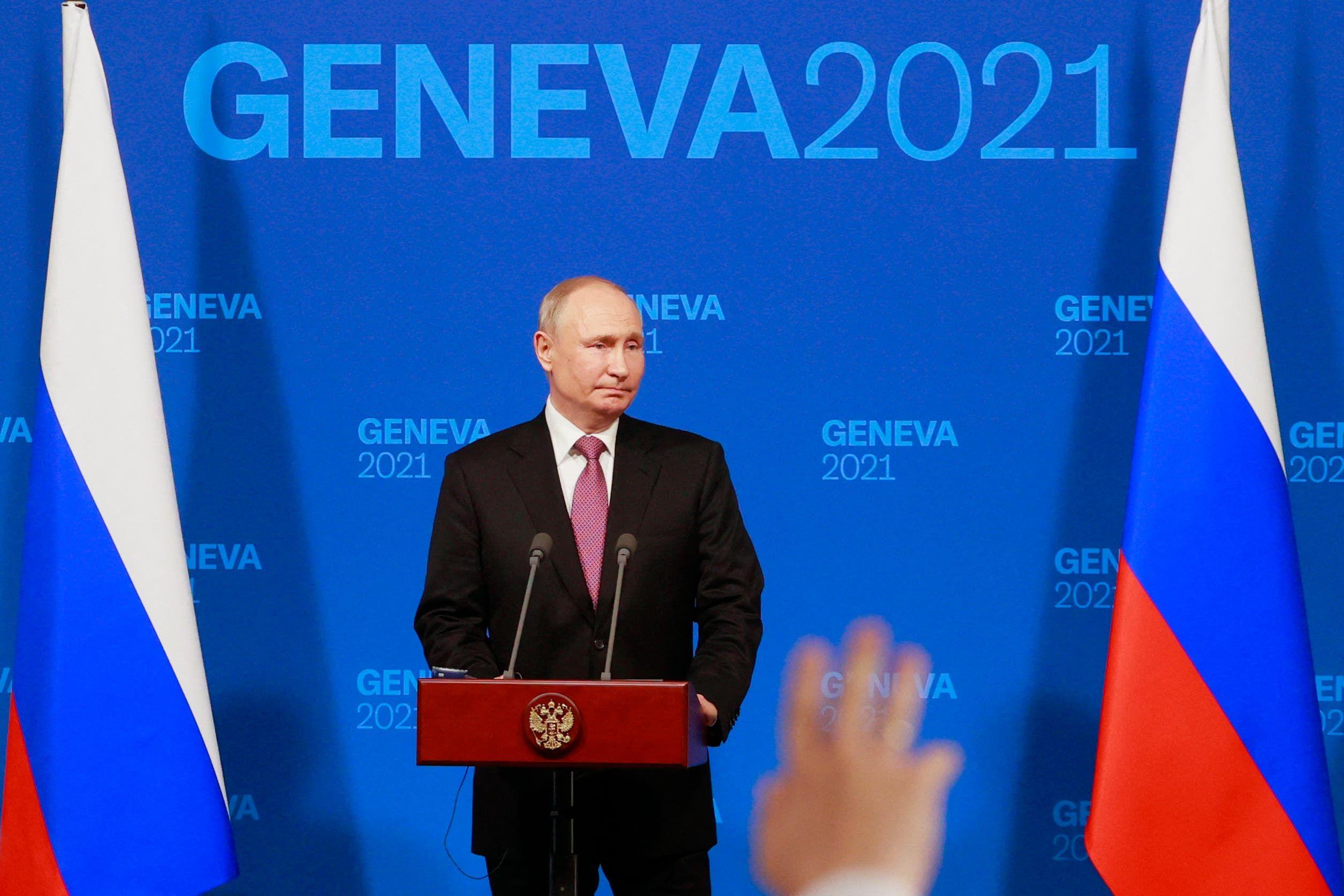 بوتين خلال المؤتمر الصحافي