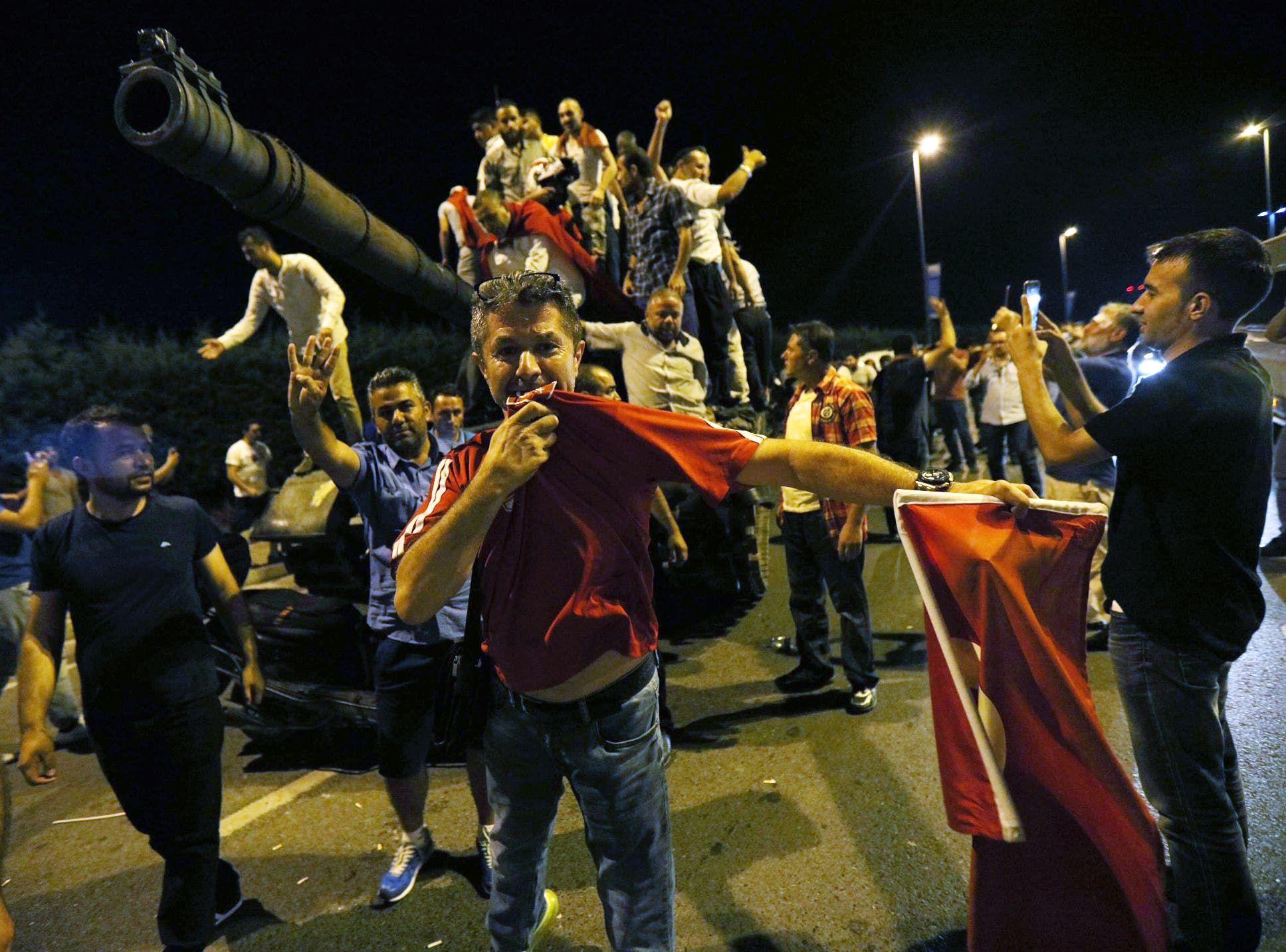 من محاولة الانقلاب في تركيا في يوليو 2016