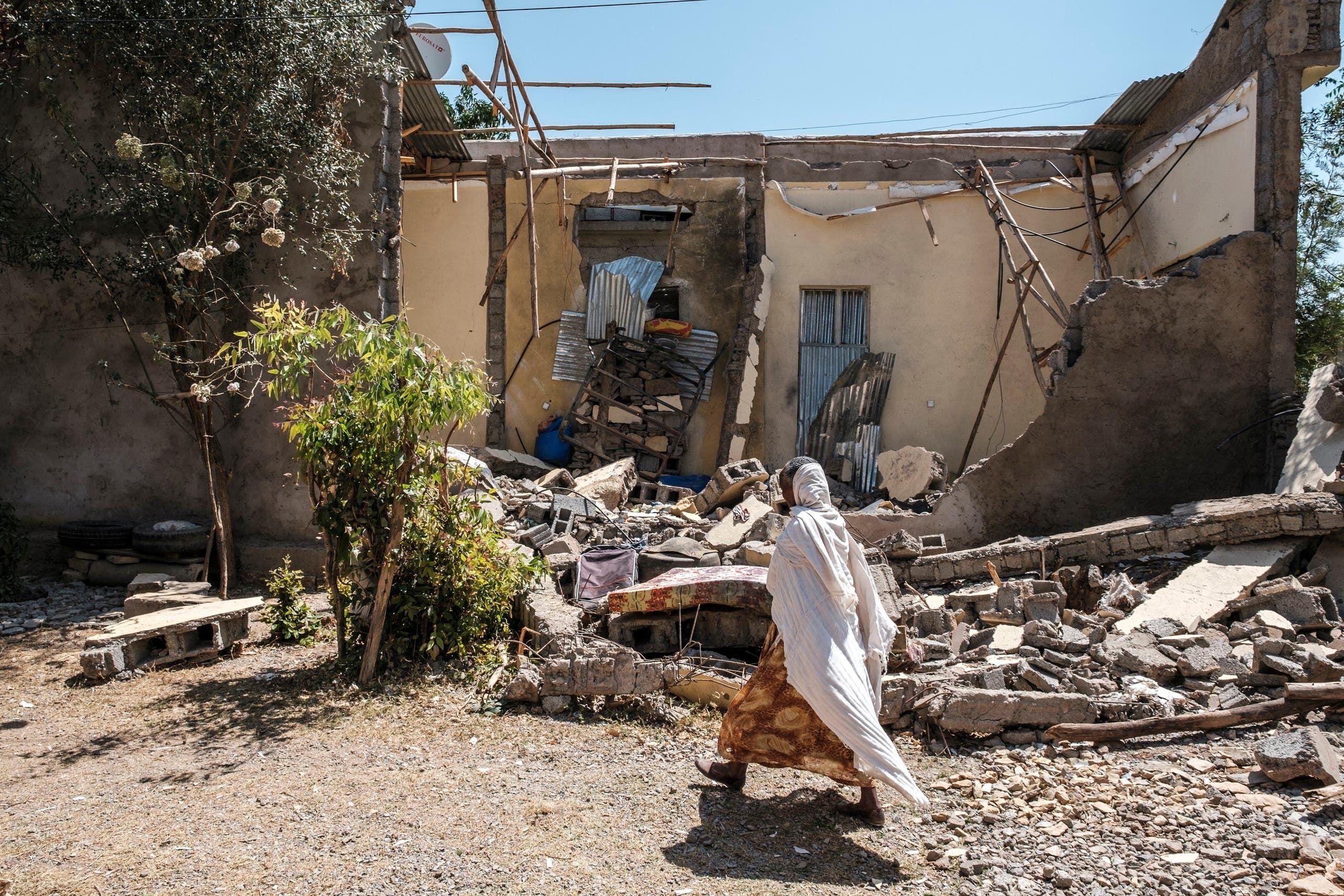 الدمار إثر القتال في تيغراي