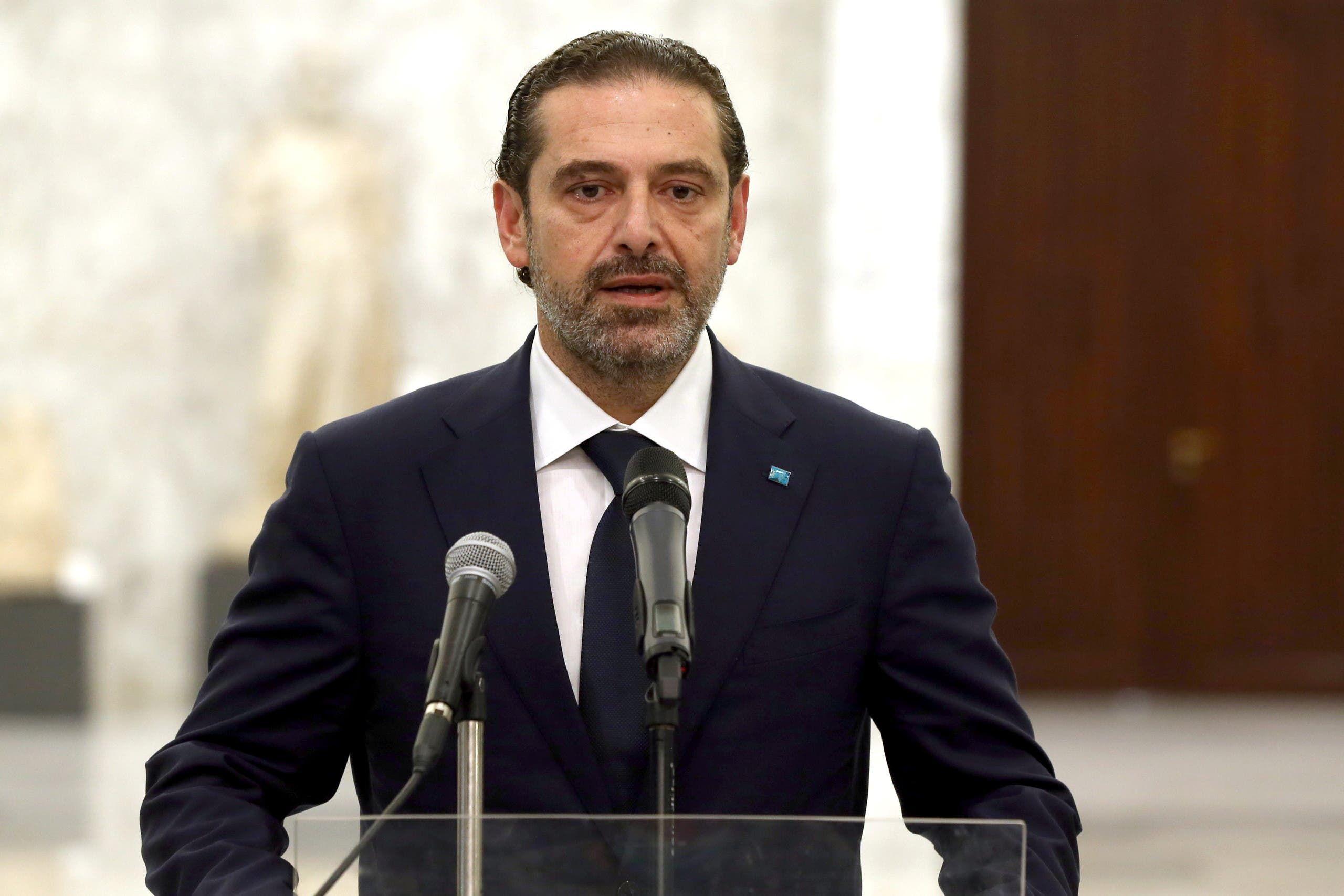 رئيس الوزراء اللبناني المكلف سعد الحريري يوم 18 مارس 2021 (رويترز)