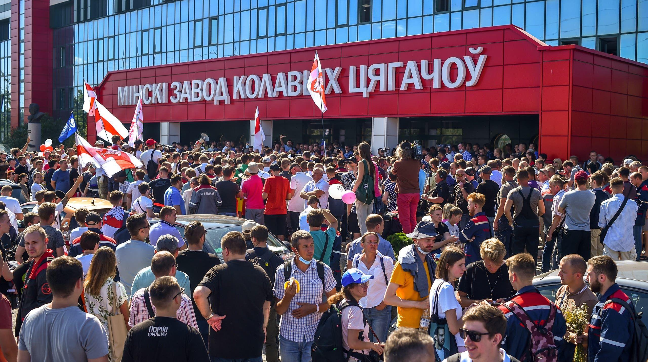 من مظاهرات بيلاروسيا