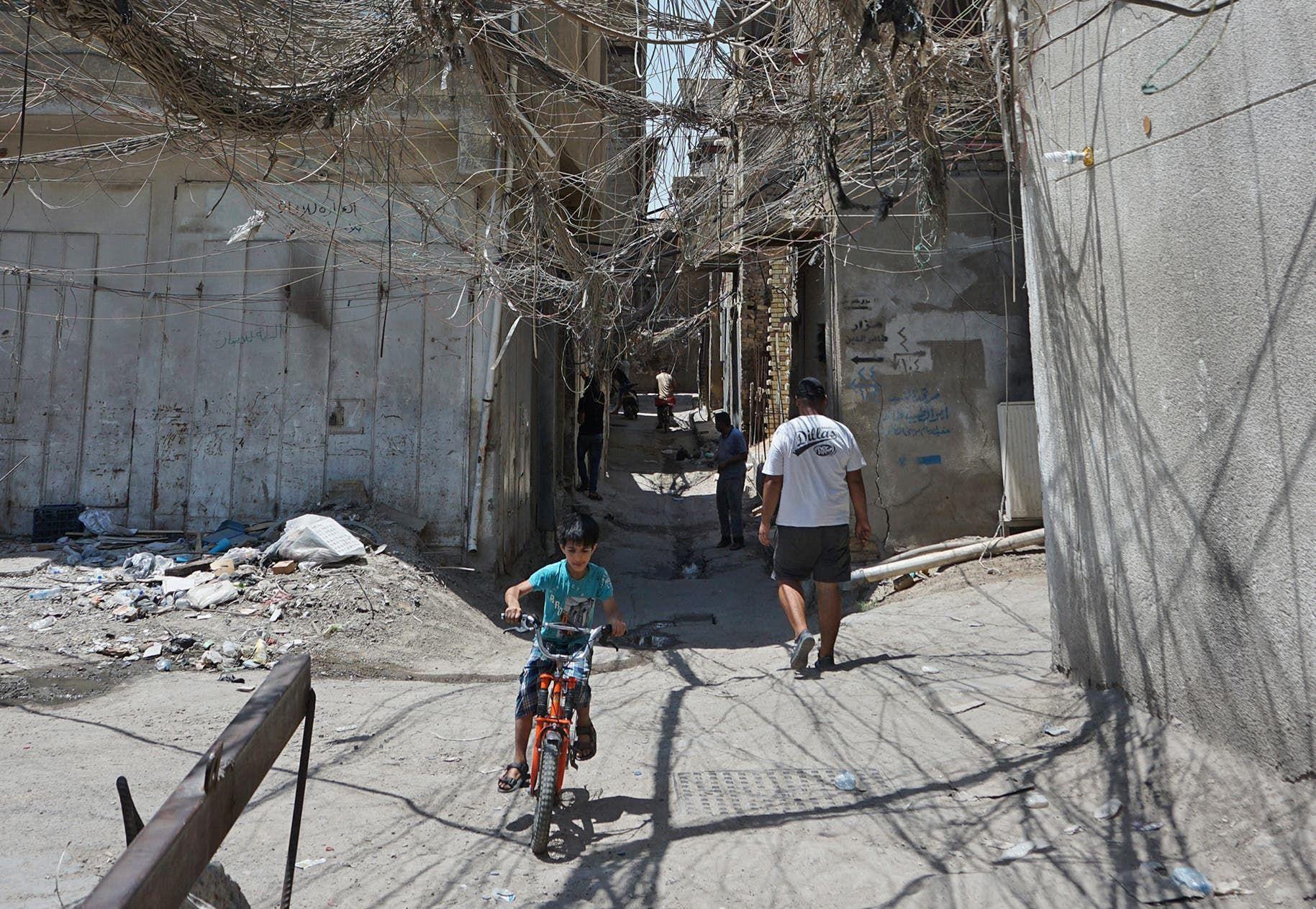 انقطاع الكهرباء في العراق (أرشيفية- قرانس برس)