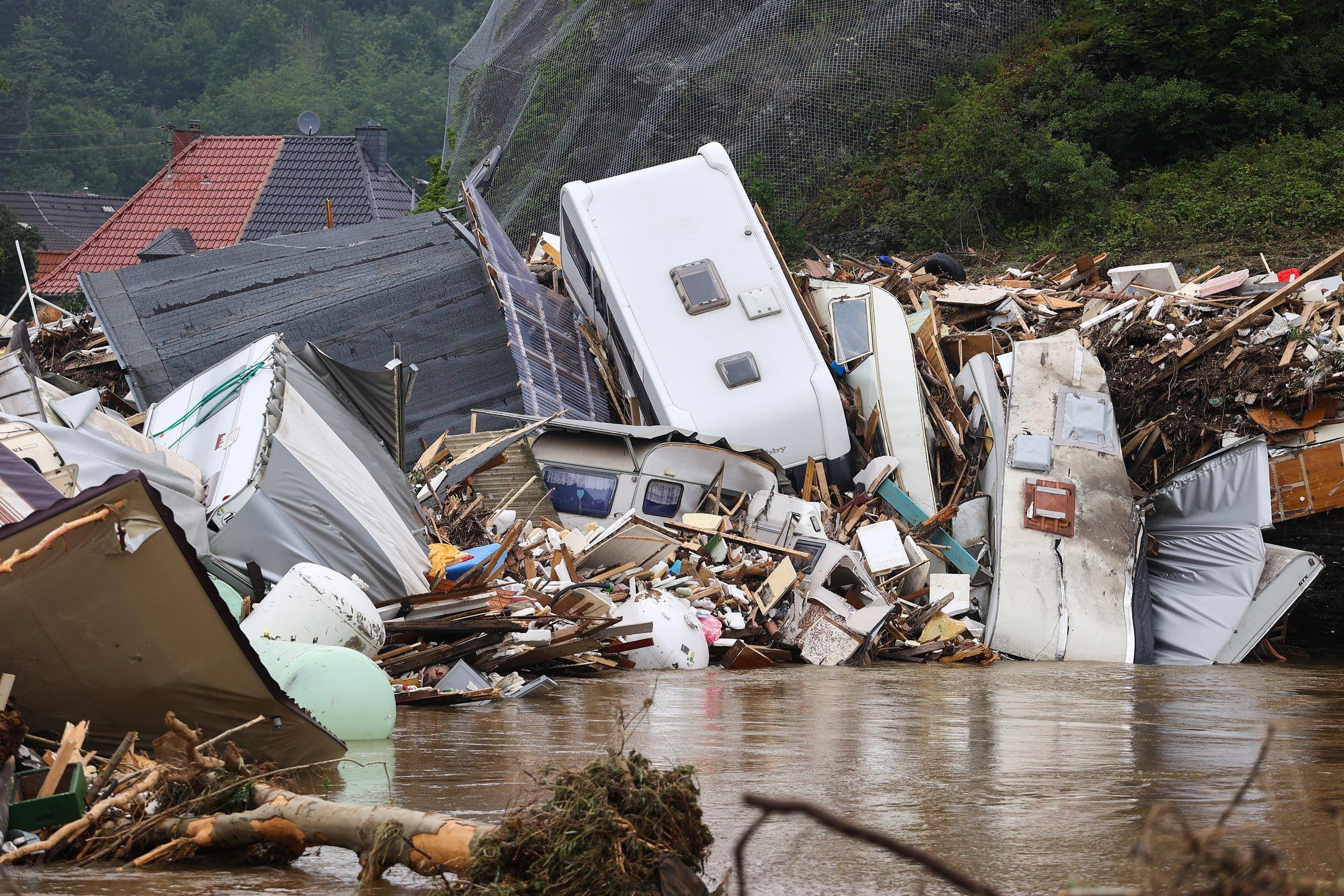 الدمار الذي خلفته الفيضانات في ألمانيا