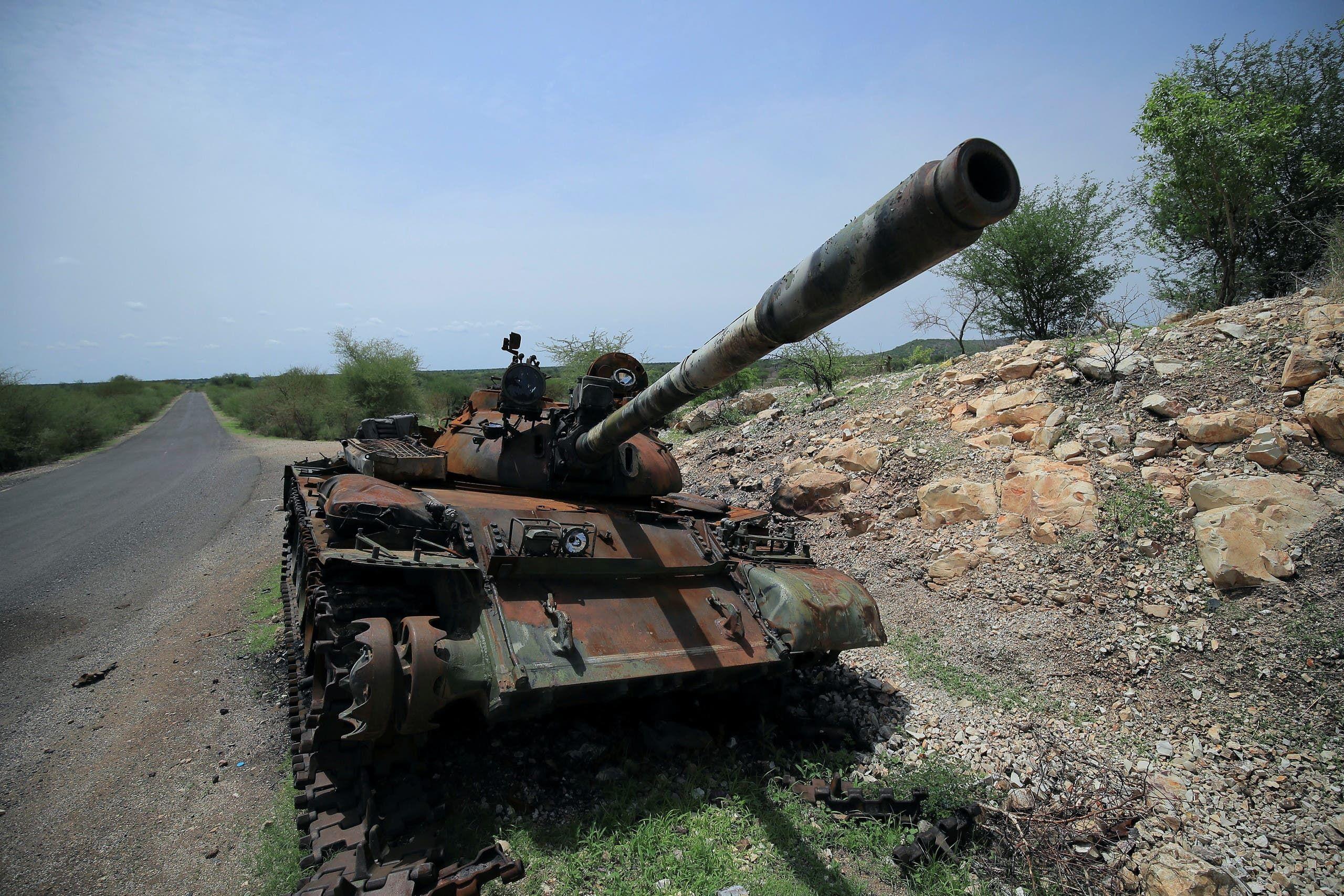 دمامة تدمرت إثر المعارك في تيغراي (أرشيفية)