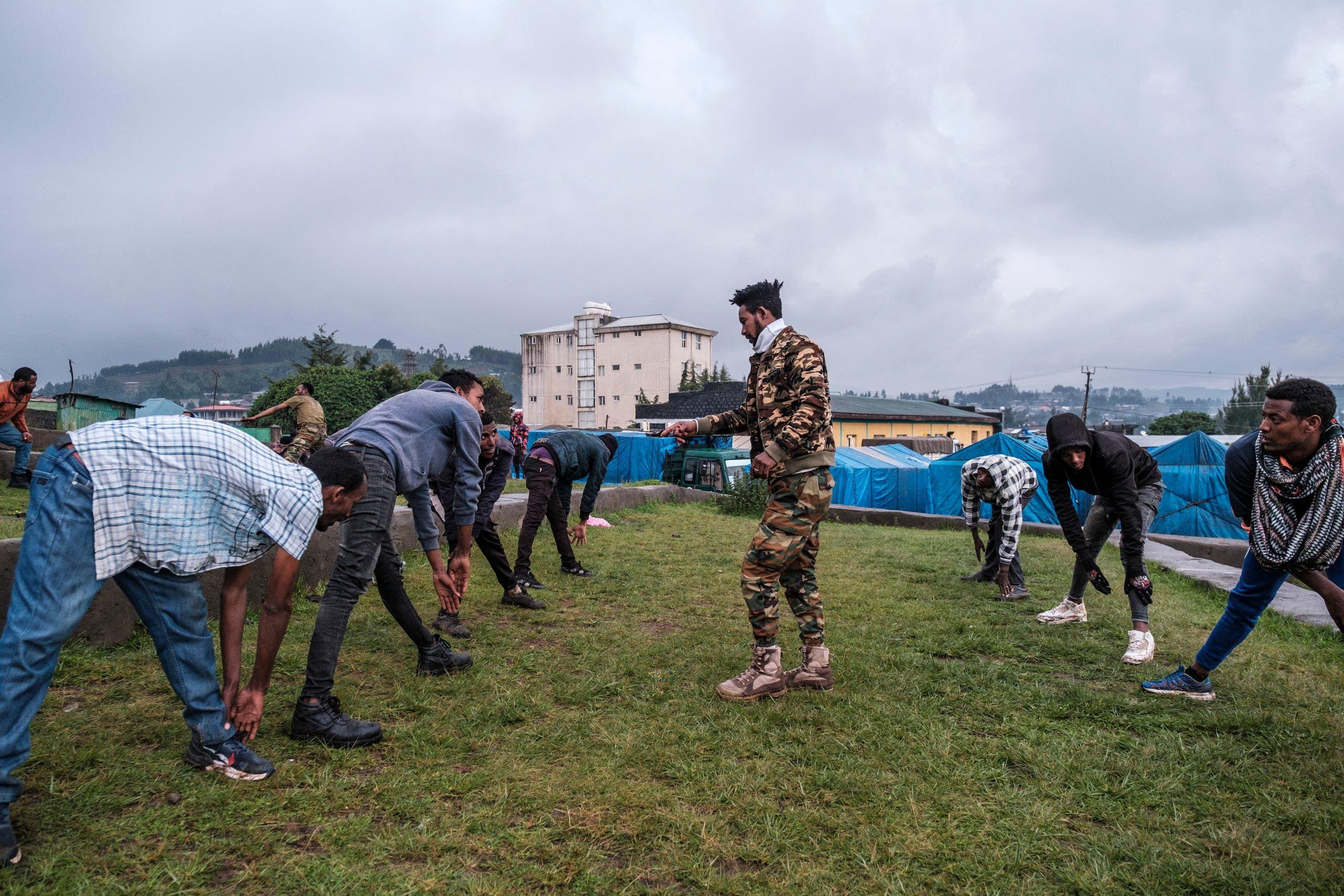 معسكر تدريب لمنضمين جدد إلى ميليشيا أمهرة