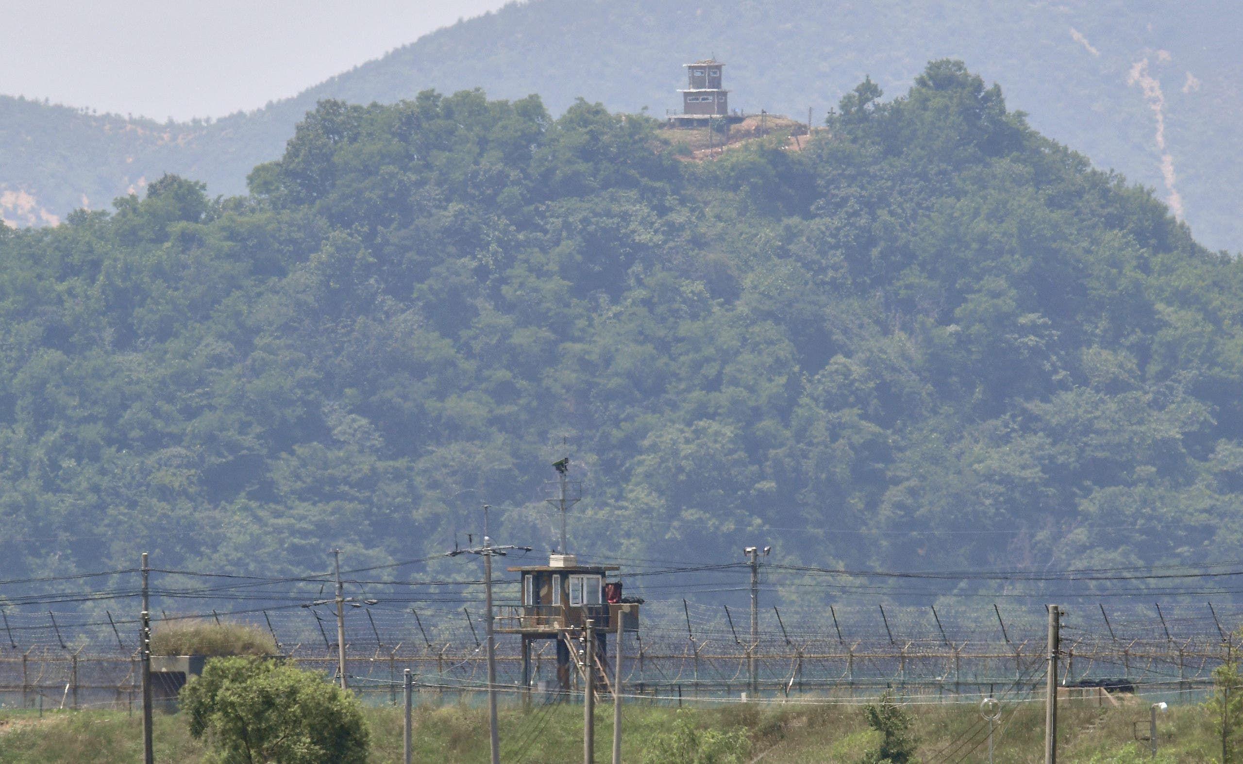 الحدود بين كوريا الشمالية وجارتها الجنوبية (أرشيفية- فرانس برس)