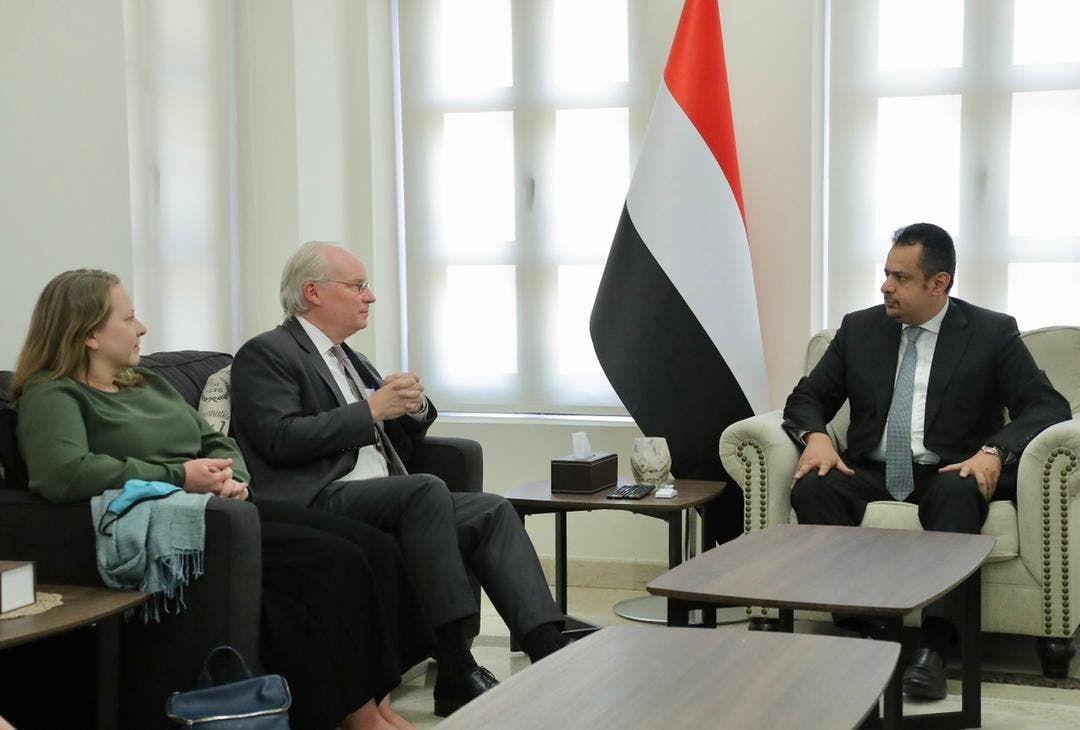 ليندر كينغ يلتقي رئيس الحكومة اليمني معين عبدالملك