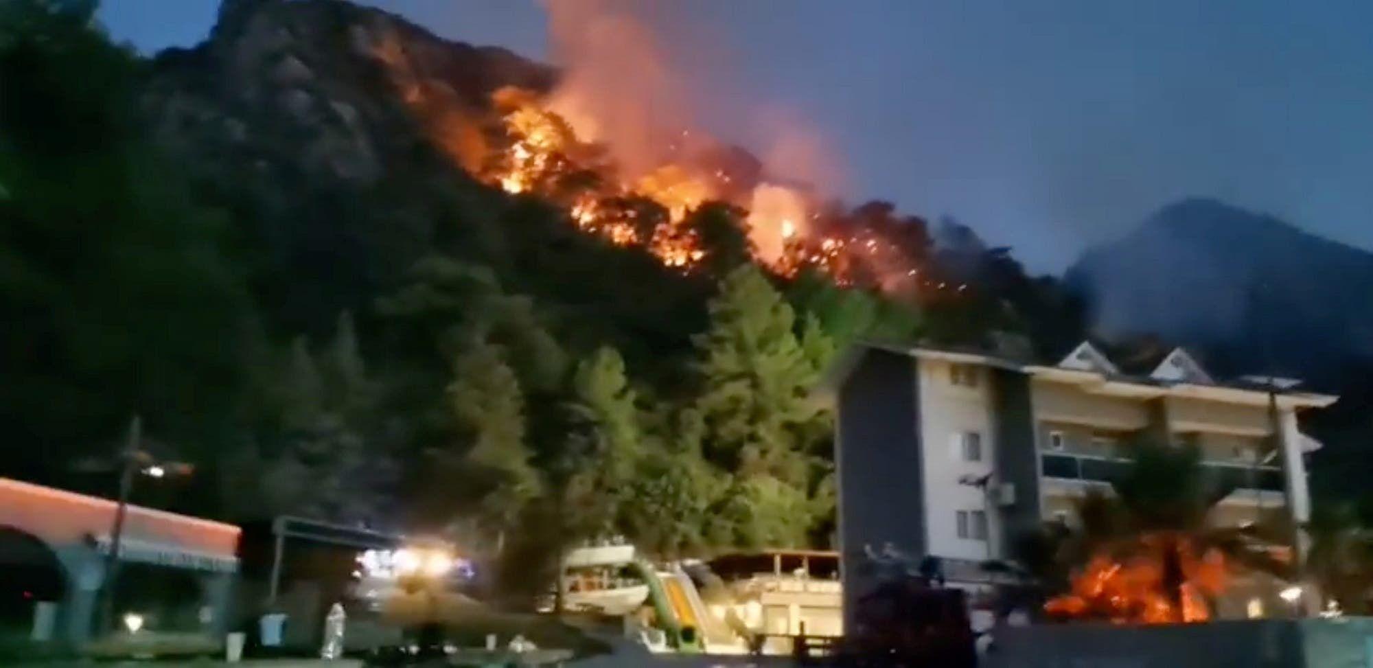 حرائق غابات بالقرب من مرمريس بتركيا (أرشيفية من رويترز)