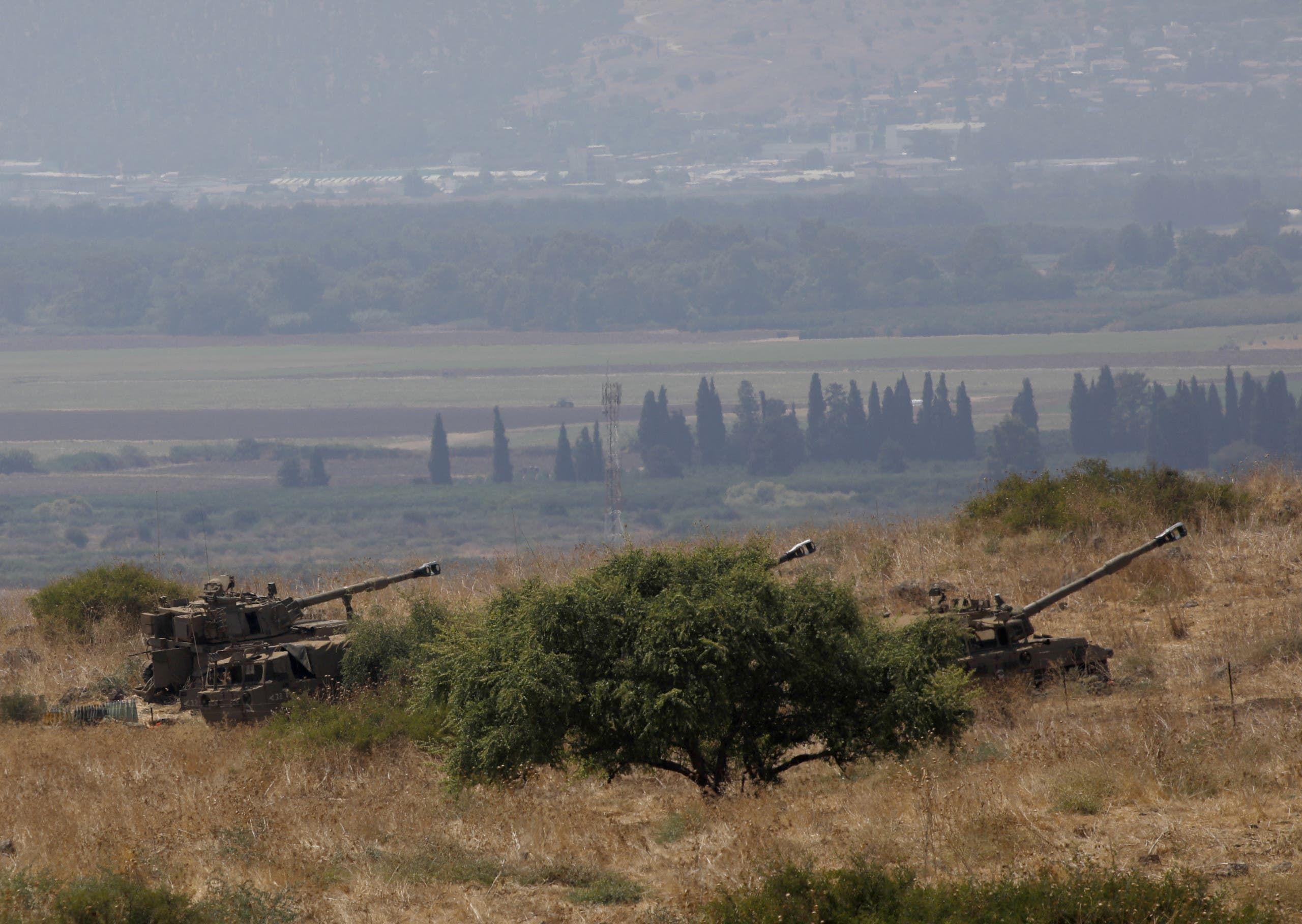 مدفعية الجيش الإسرائيلي في كريات شمونة (أرشيفية)
