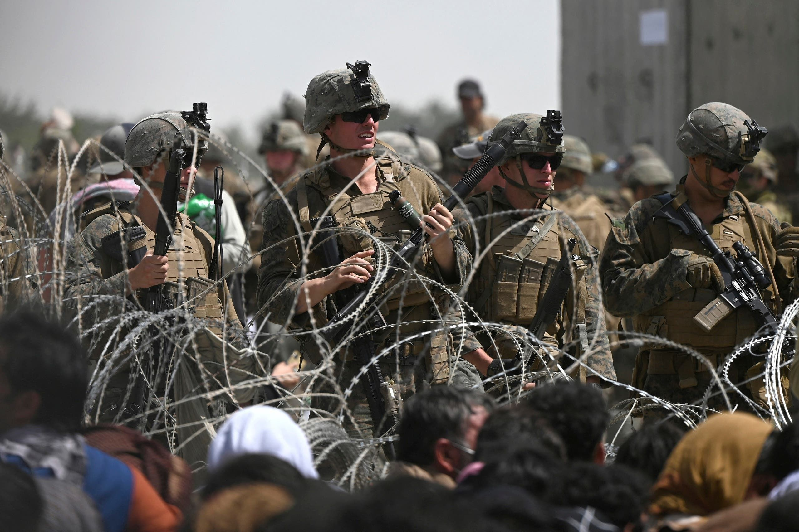 جنود اميركيون في مطار كابل