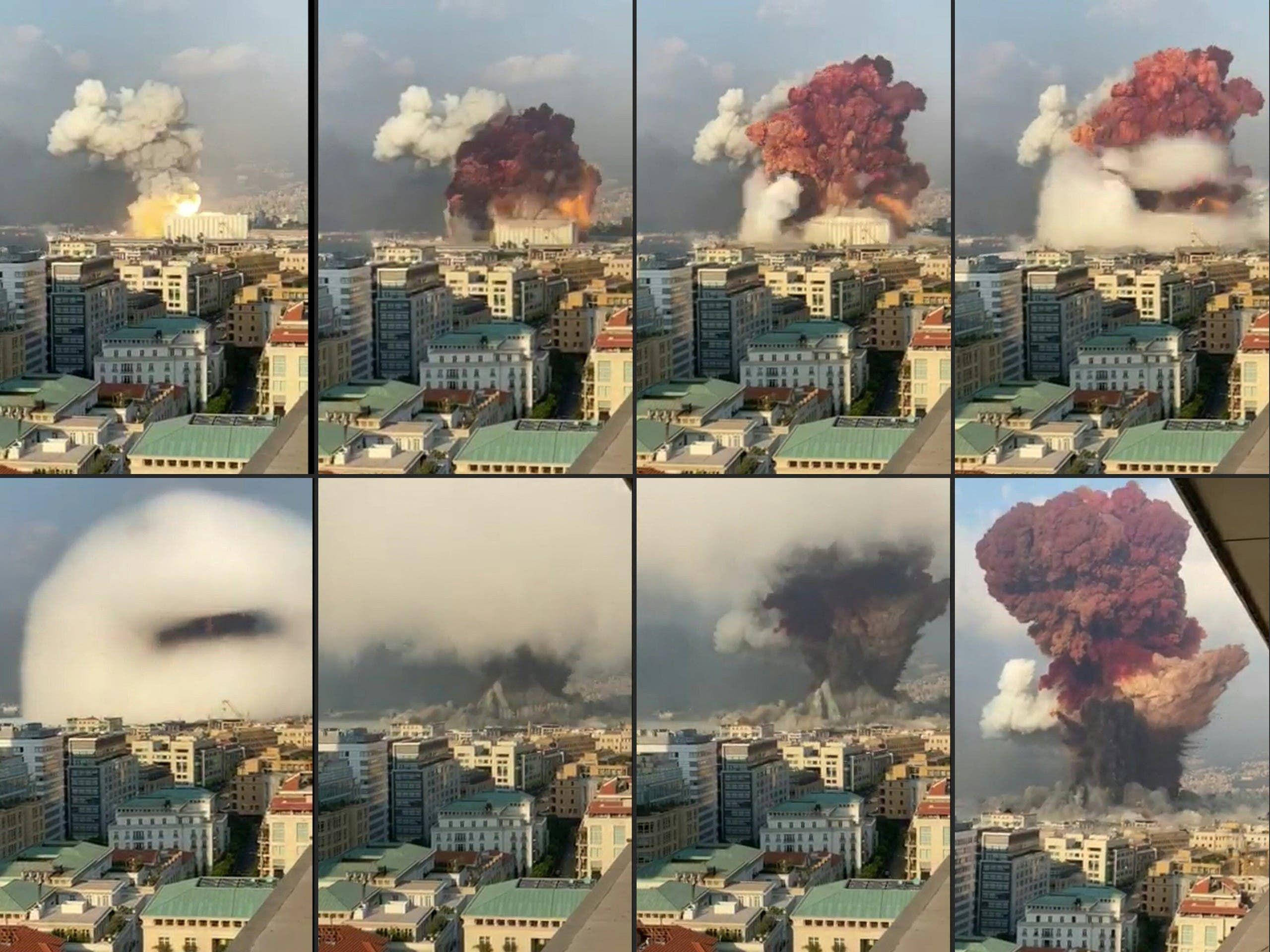 صور تظهر الانفجار الضخم