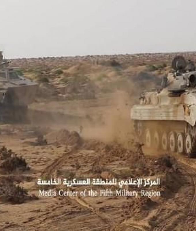 اليمن | الجيش اليمني يسيطر على وادي حبل ويقترب من منطقة الجر