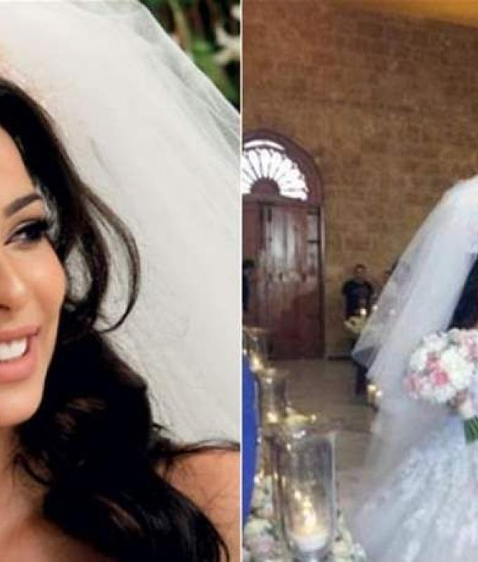أمسكَ بيديها تحت الطاولة وتقدّم لها.. قصة حب وزفاف نادين نجيم الحقيقيان! (صور)