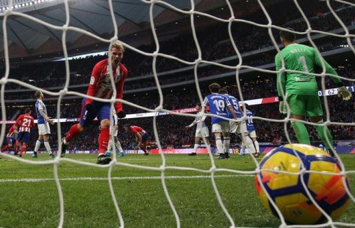 أتلتيكو يتغلب على ريال سوسيداد بصعوبة