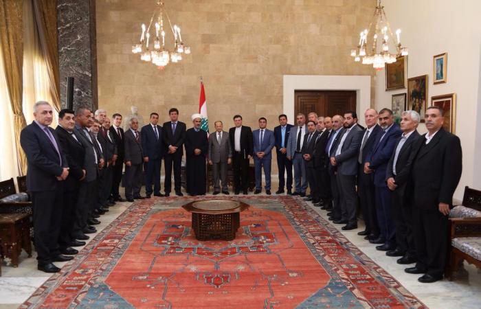 لقاءات وزارية وسياسية وانمائية في قصر بعبدا