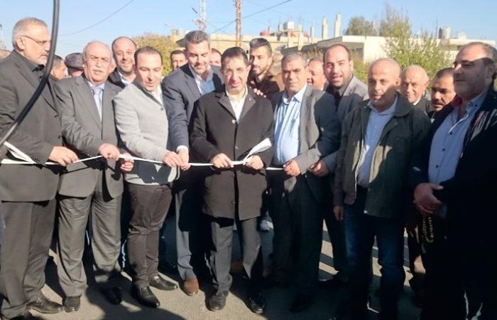 وزير الصناعة افتتح مشاريع إنمائية في بعلبك