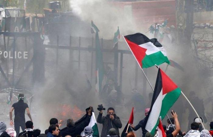 """عشرة موقوفين بينهم فلسطينيون في """"تظاهرة عوكر"""""""