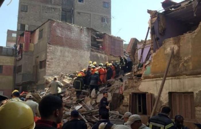 مصرع سيدة وطفلة بانهيار ثلاثة منازل متجاورة في حي روض الفرج بالقاهرة
