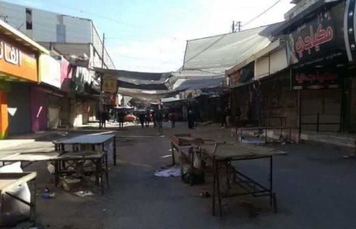 متاجر مخيم البقعة للاجئين الفلسطينيين في الأردن تغلق أبوابها تضامناً مع القدس