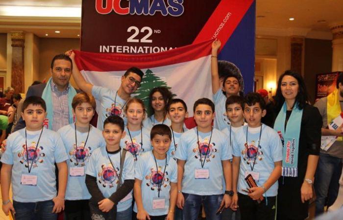 بالصور: أطفال لبنان في المراكز الأولى بالمسابقة الدولية للحساب الذهني الفوري