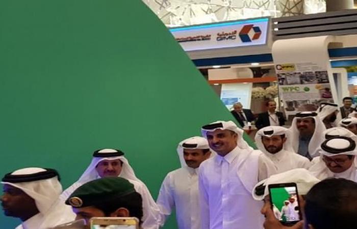 """الأمير تميم يفتتح معرض """"صنع في قطر"""" بمشاركة 458 شركة"""