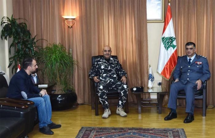 اللواء عماد عثمان يلتقي الصحافي ربيع شنطف