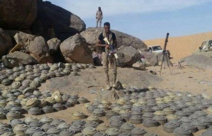 الجوف.. نزع 6 آلاف لغم زرعها الحوثيون في اليتمة