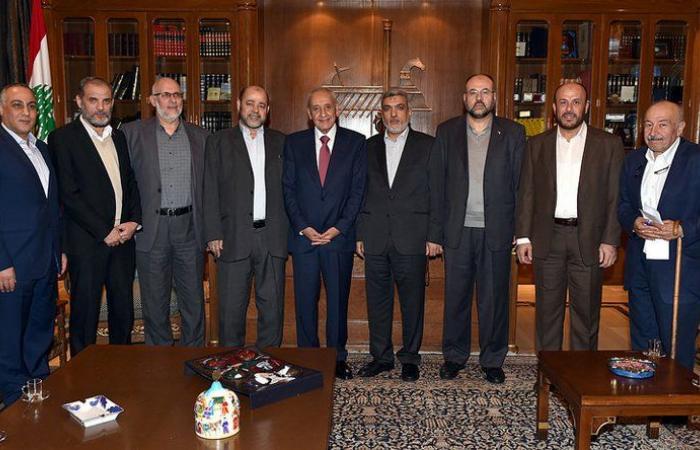 سلسلة لقاءات للرئيس بري في عين التينة