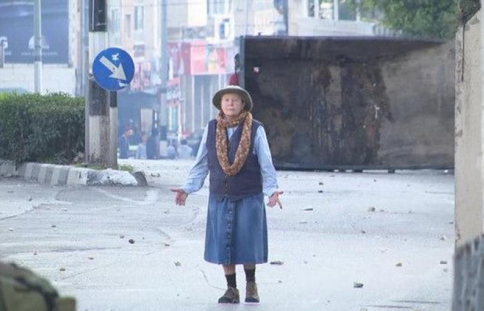 شاهد.. سيدة روسية مجهولة تهاجم الإسرائيليين