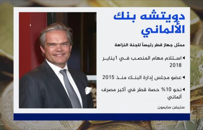 """ممثل """"جهاز قطر"""" رئيسا للجنة النزاهة بدويتشه بنك"""