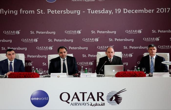القطرية تدشن رحلاتها اليومية إلى سانت بطرسبورغ