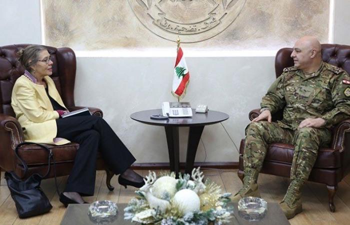 سلسلة لقاءات لقائد الجيش في اليرزة