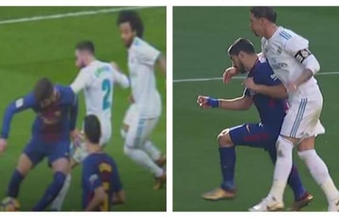 صحف مدريد تعترف: برشلونة يستحق ركلة جزاء..وطردٌ لراموس