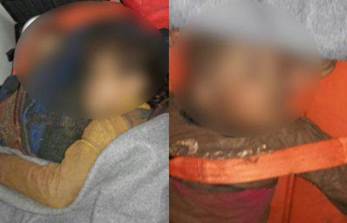 بالصور: العثور على طفل متجمد في جبل المصنع