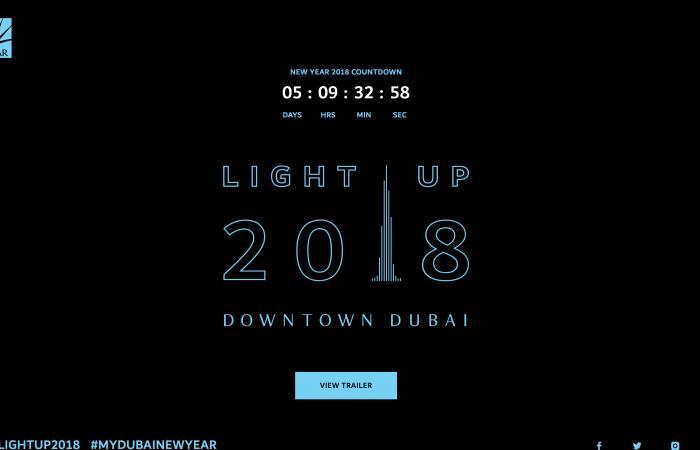 بث مباشر لاحتفالات Light Up 2018 في دبي عبر مواقع التواصل الاجتماعي والقنوات التلفزيونية العالمية
