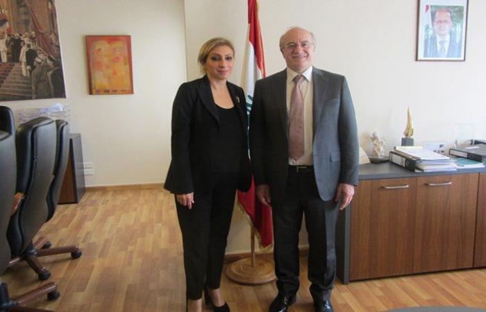 وزير الثقافة عرض وسفيرة لبنان لدى اليونيسكو مجالات التعاون