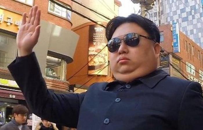 شاهد ماذا يفعل المارة مع شبيه زعيم كوريا الشمالية