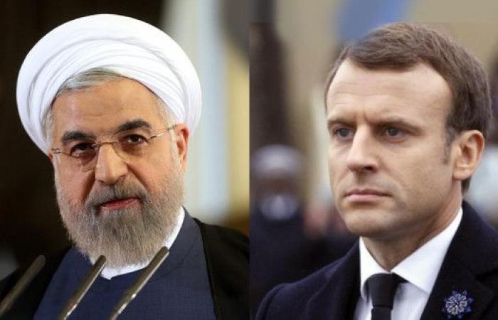 """ماكرون يطالب روحاني بـ""""ضبط النفس"""" في ايران"""