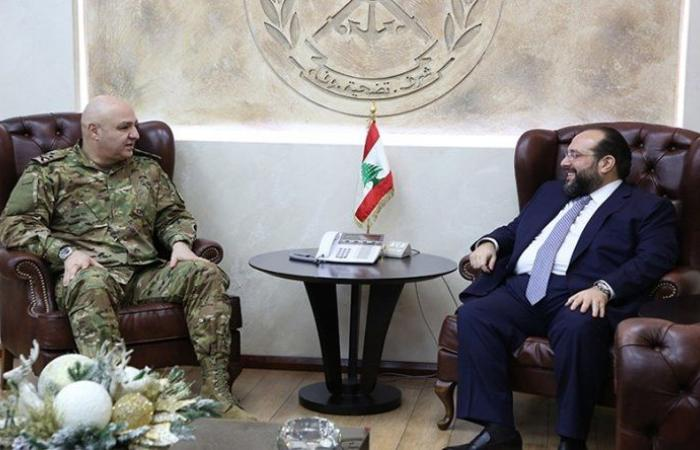قائد الجيش استقبل قنصل لبنان في اريتريا وانطوان صفير