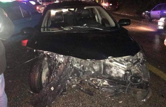 بالصورة: جريحان في حادث سير على طريق عجلتون