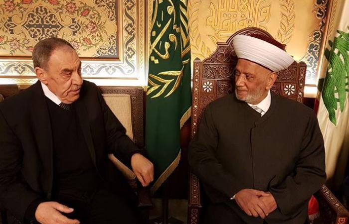 دريان استقبل رئيس التجمع العكاري ورئيس المركز الثقافي الإسلامي